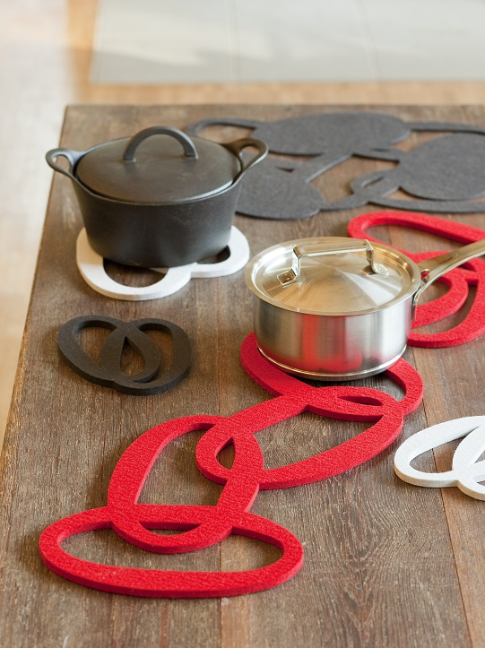 VERSO DESIGN - SILMU felt trivets and placemats 2