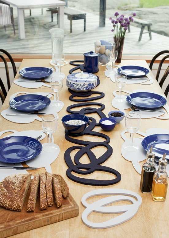 VERSO DESIGN - SILMU felt trivets and placemats