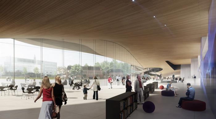 Sklo a dřevo, to budo základní materiály nové finské knihovny