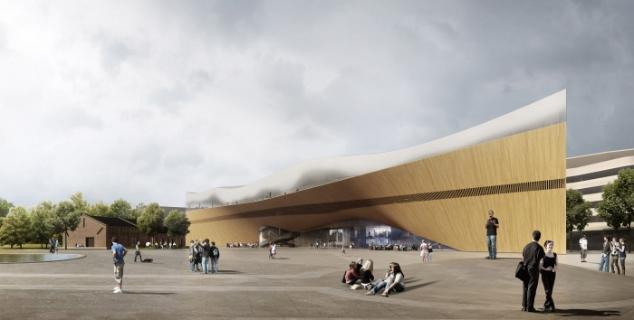 Vstup do nové centrální knihovny v Helsinkách