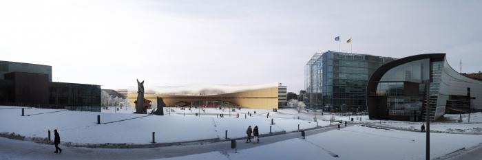 Návrh nové finské knihovny v Helsinkách