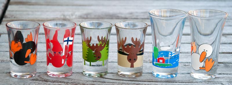 Panákové skleničky Aarikka