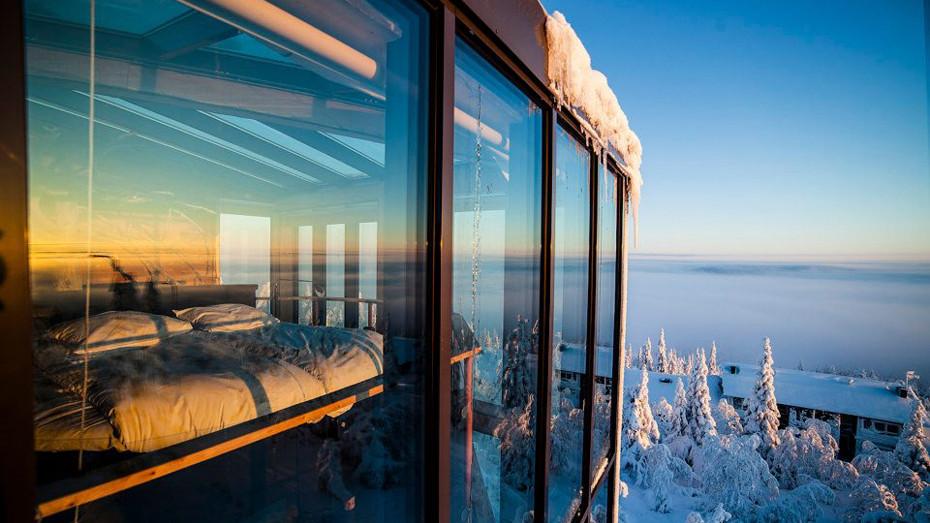 Probuzení ve finském hotelu Eagles view