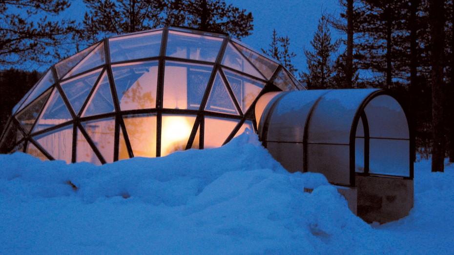 Hotelové igloo v Laponsku poskytuje úžasné výhledy