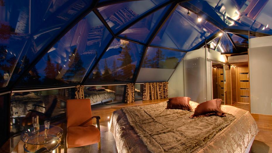 Luxusní interiér hotelu ve finském Levi