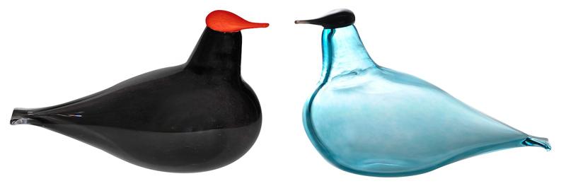 Ptáčci ze skla od finského výrobce Muurla inspirované Brkoslavem Severským