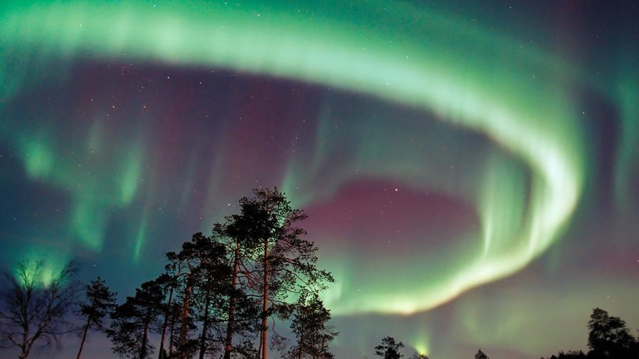 Polární záře nad Finskem