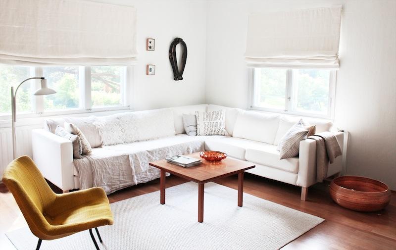 Obývací pokoj ve finském stylu