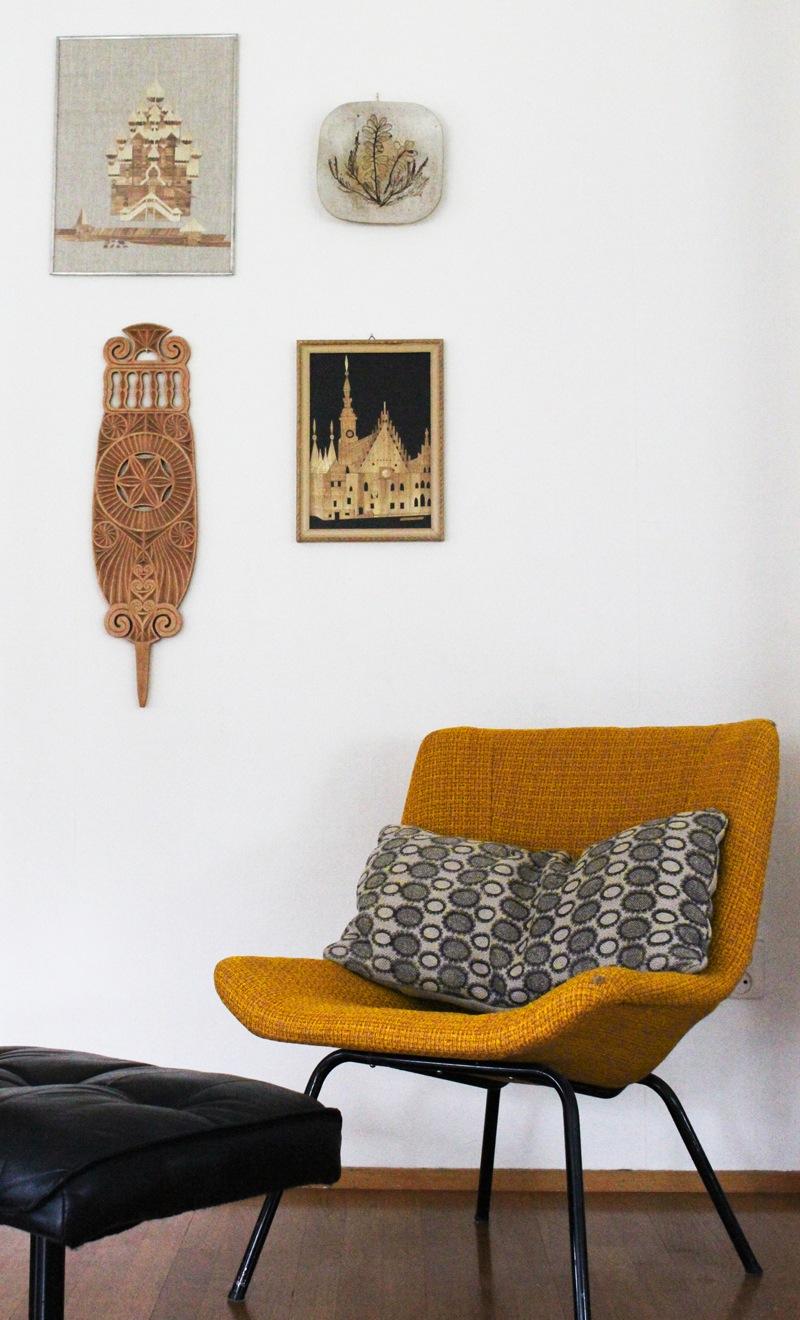Retri křeslo krásné doplňuje bílý finský interiér