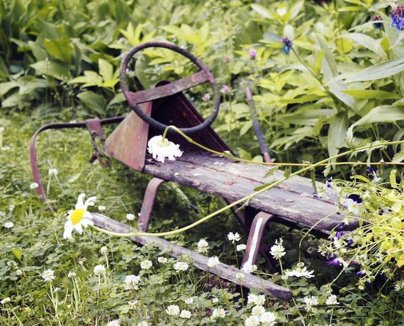 Zahradní dekorace ve finském vintage stylu