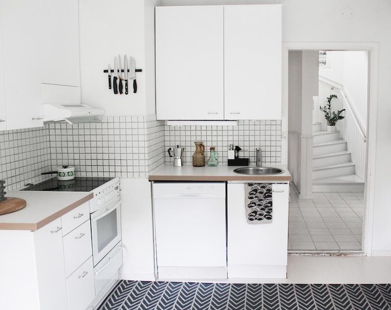 Útulná kuchyň ve vintage stylu