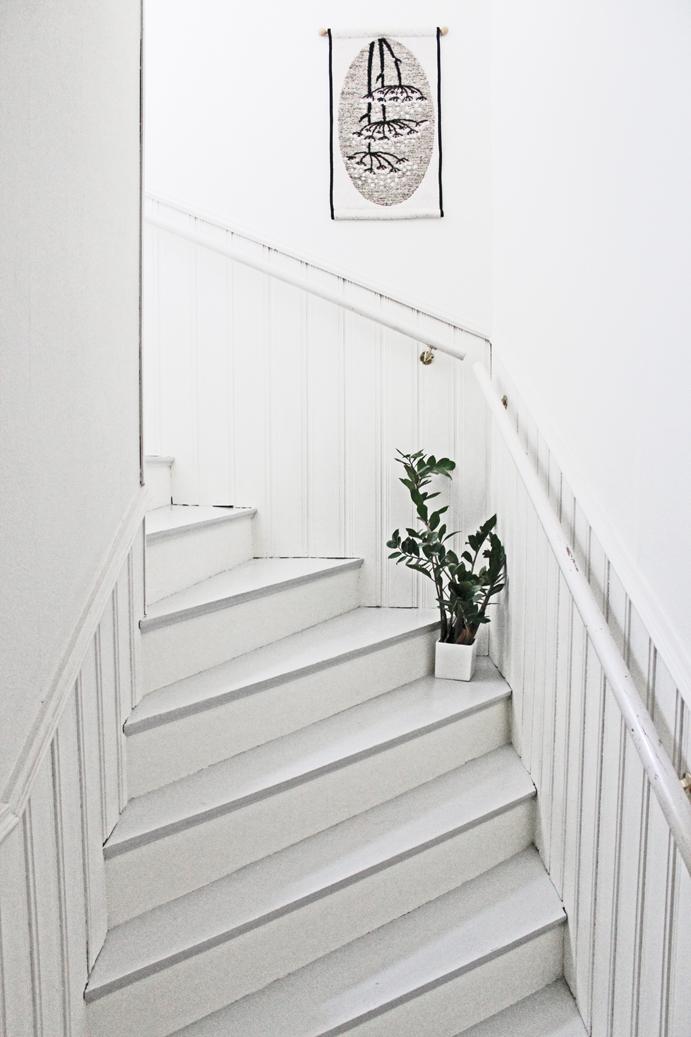 Jednoduché schodiště ve finském stylu