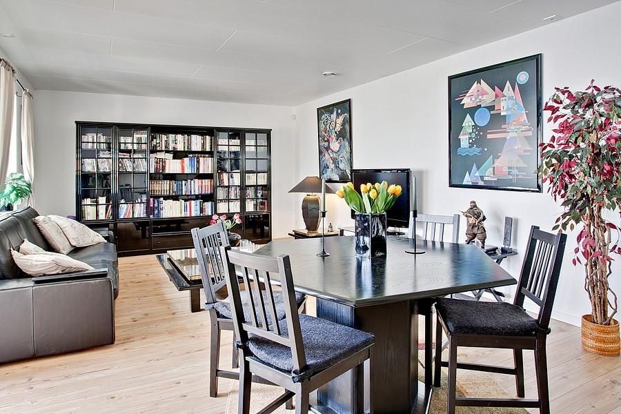 Skandinávský interiér - obývák