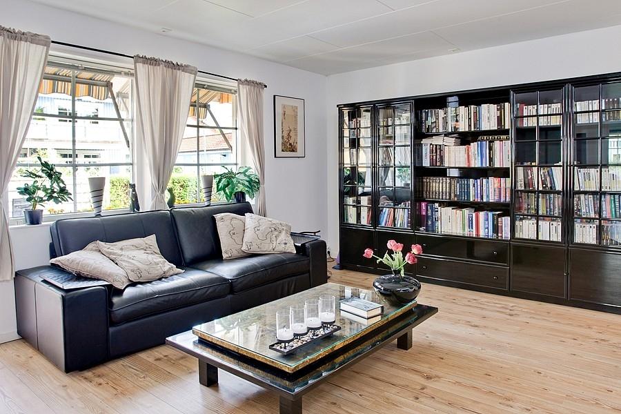 Skandinávský interiér - obývací pokoj