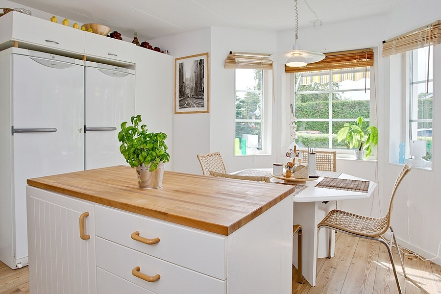 Skandinávský interiér - jídelna