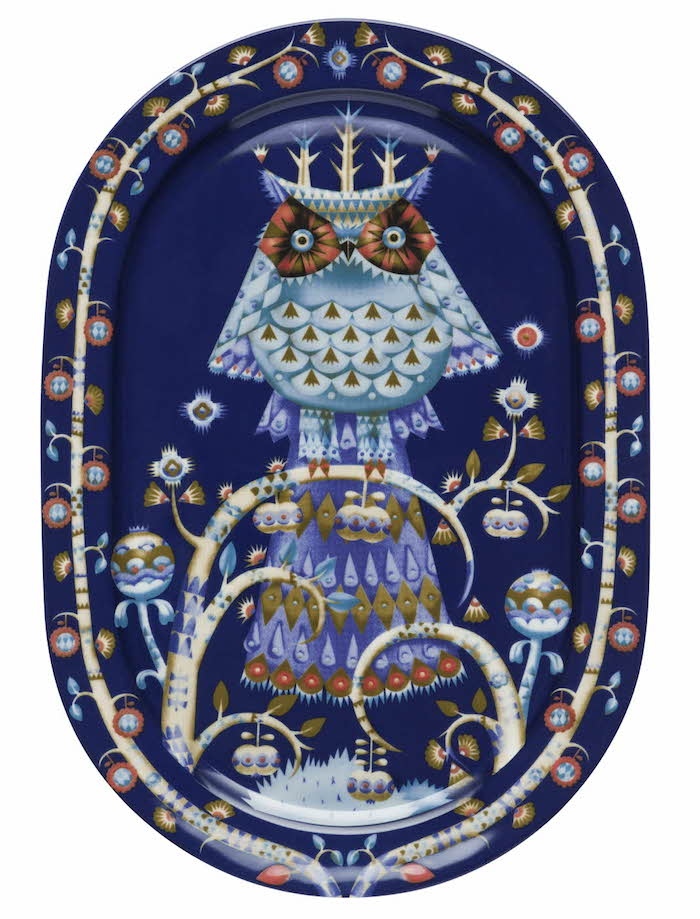 Taika serving plate 41cm oval blue_JPG