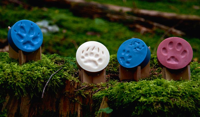 Voňavá organická mýdla Aamumaa s otisky zvířecích stop