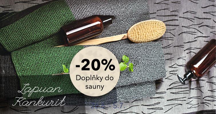 Sleva 20% na doplňky do sauny a do koupelny od Lapuan Kankurit