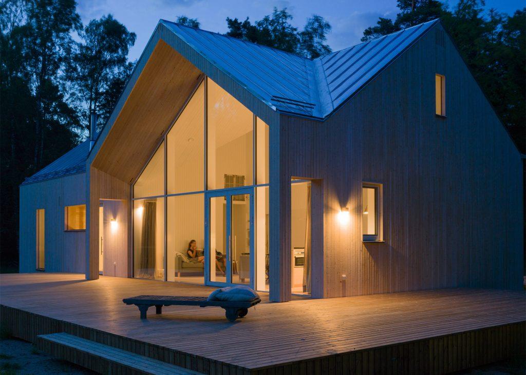 Moderní finská dřevostavba