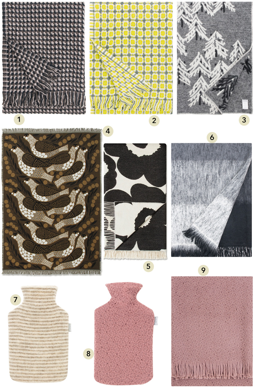 Severské deky, plédy, přikrývky a termofory